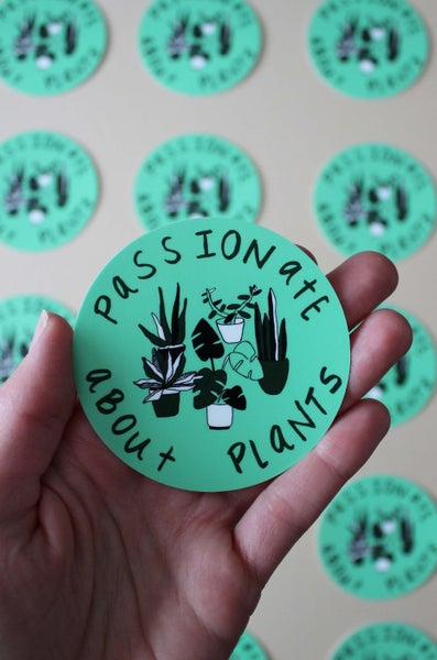 Image of Passionate About Plants Sticker
