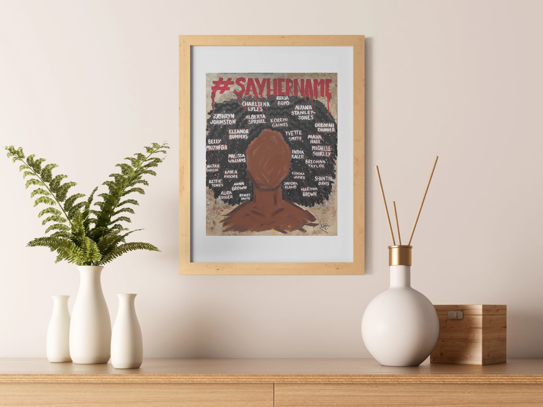 Image of #SayHerName Art Print