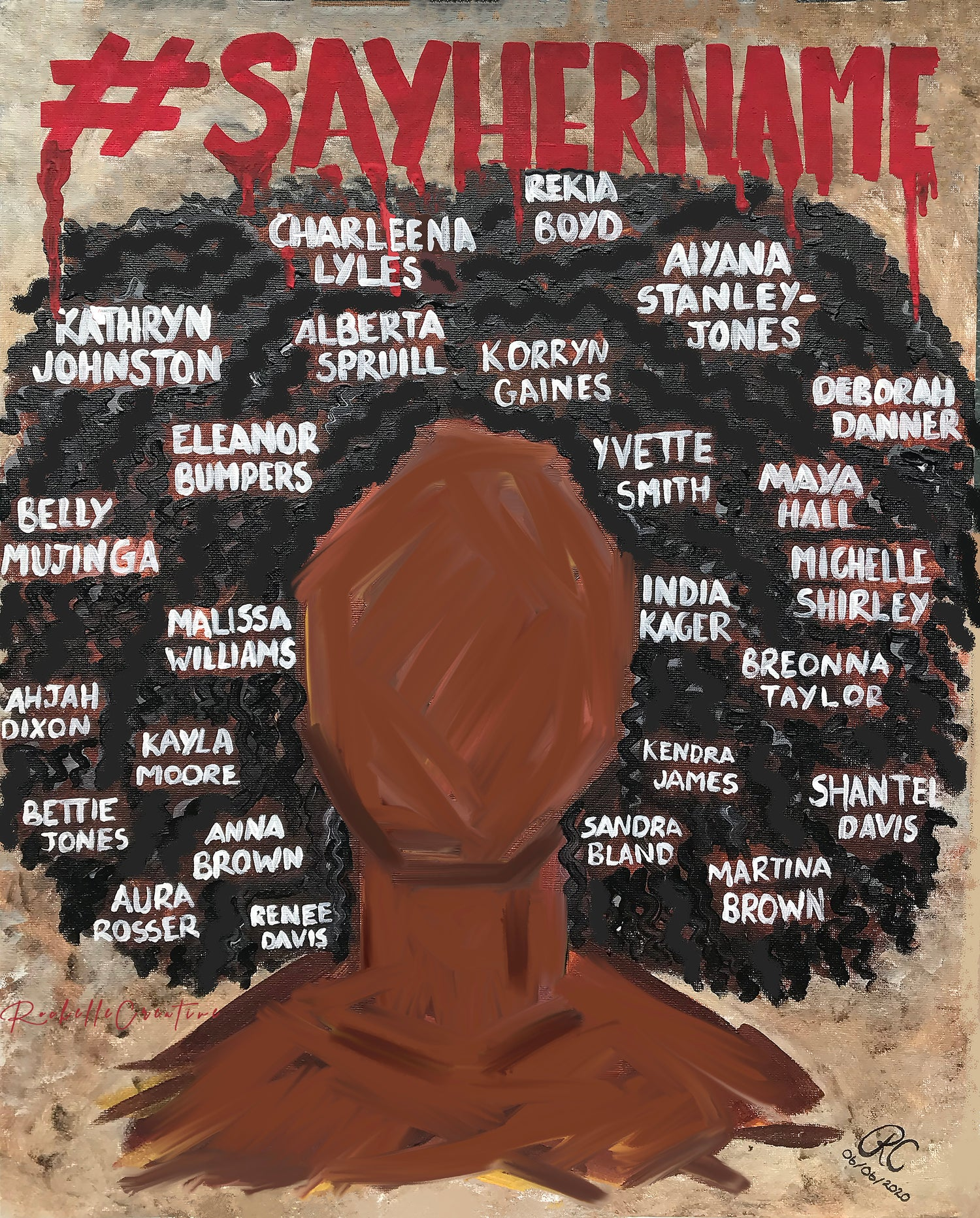 Image of #SayHerName Art Print