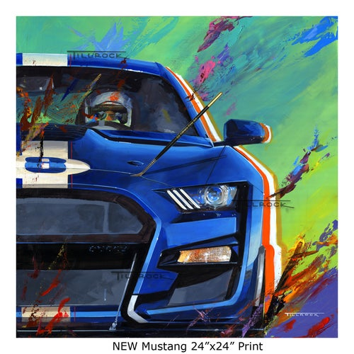 """Image of """"Mustangs"""" (New or Old) 24""""x24"""" Painting Print"""