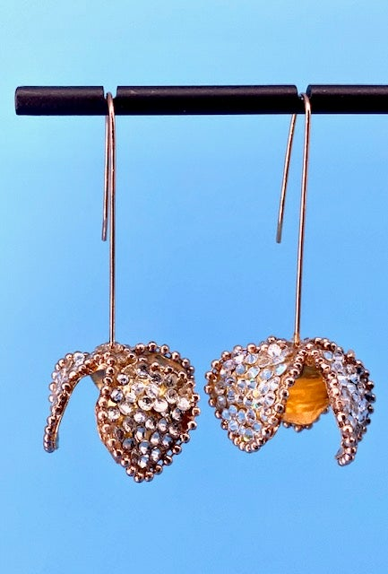 Image of Masuya Crystal Flower Earrings