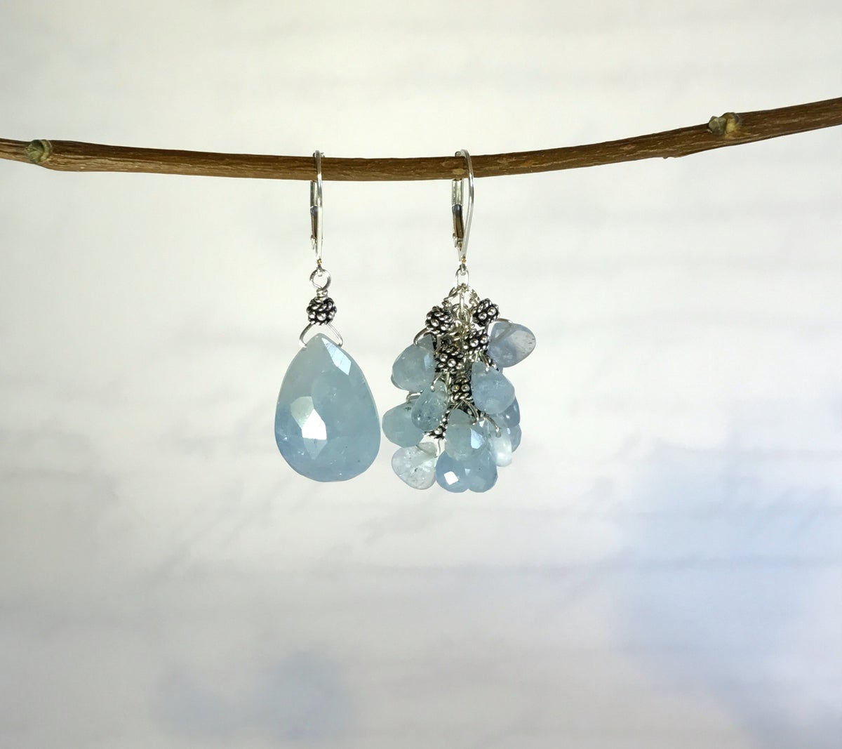 Mismatched Aquamarine Eearrings