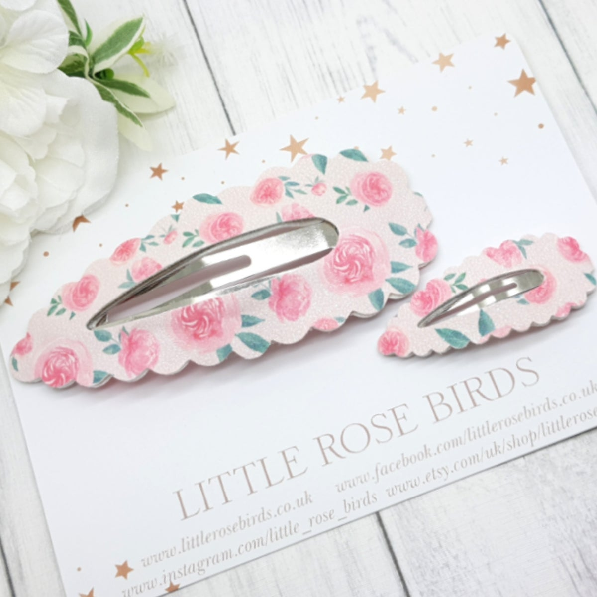 Image of Mummy & Me Pink Peony Matching Snap Clip Set