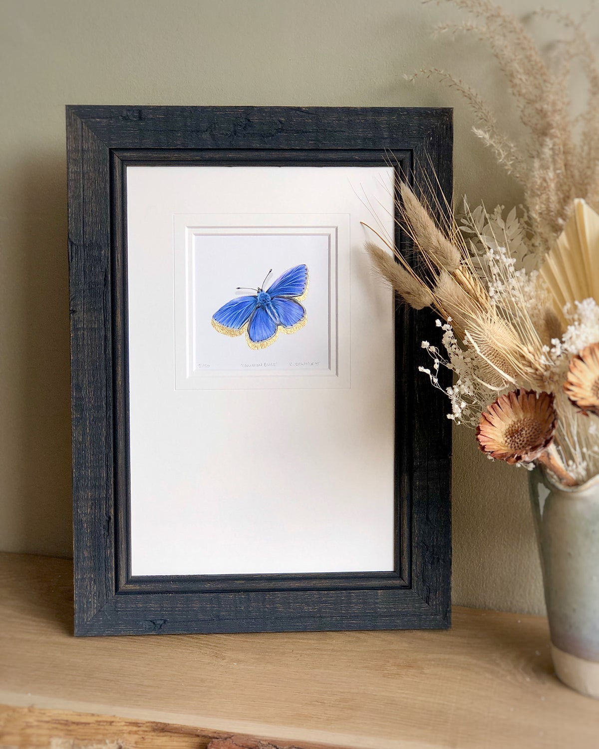 Image of 'Common Blue Butterfly' Limited Edition Giclee Print