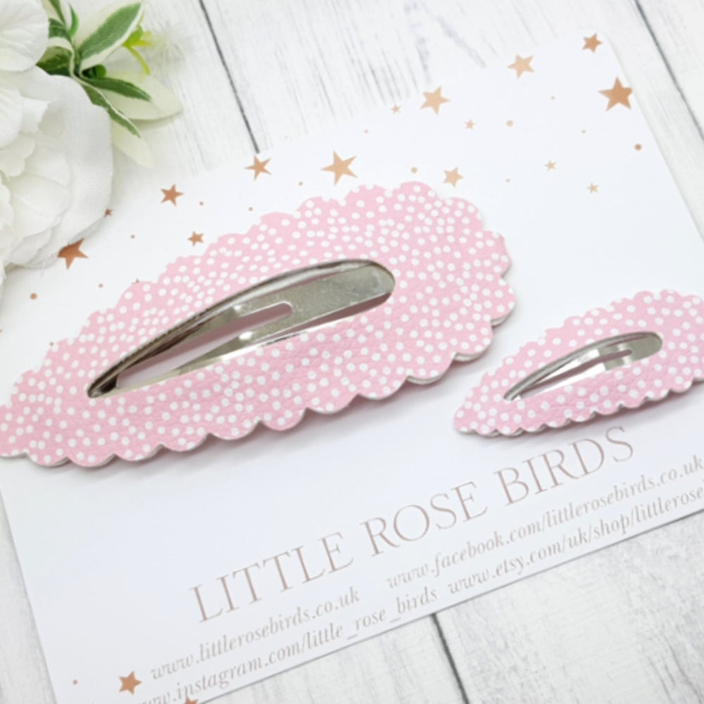 Image of Mummy & Me Pink Dotty Matching Snap Clip Set
