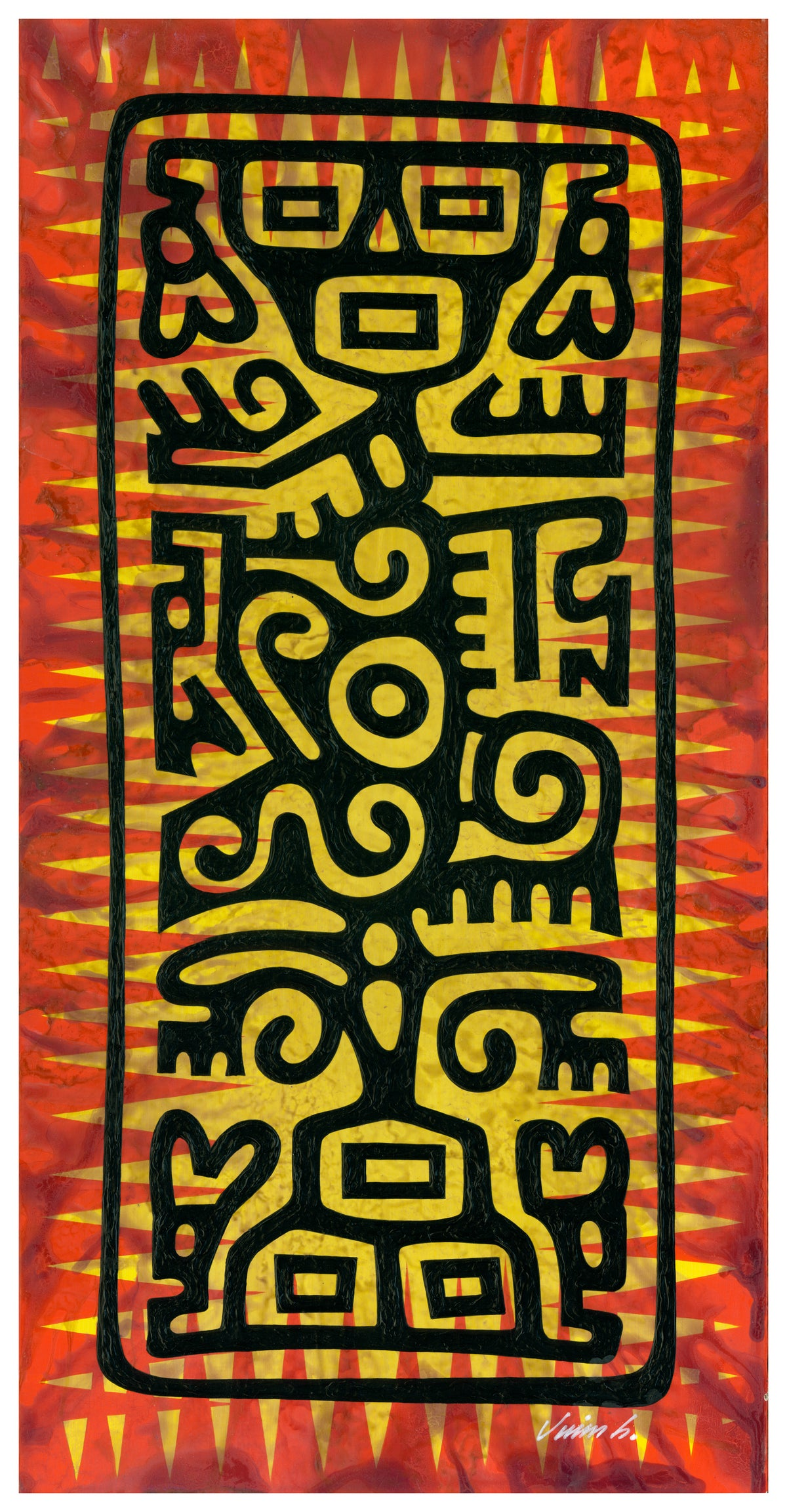 Image of MEXI-TOTEM acrylic painting