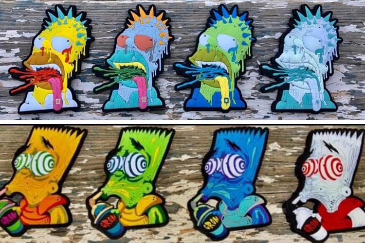 Image of Gromer X Brainwash Bart patches