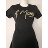 A. Monee Collection Gold Glittered T-Shirt