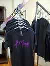 A. Monee' Collection Purple Glitter T-shirt