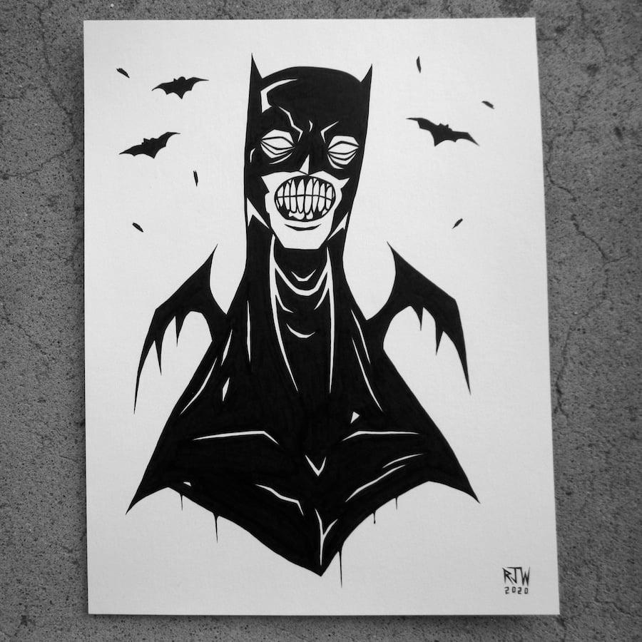 Image of Batman (with bats) - original art