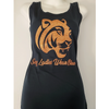 Sexy Ladies Wear Blue Glitter Racer Back Tank Top (Tigers) Edition