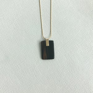 Image of Obsidian Tab Necklace