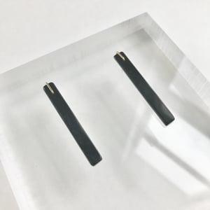 Image of Black Jade Stick Earrings