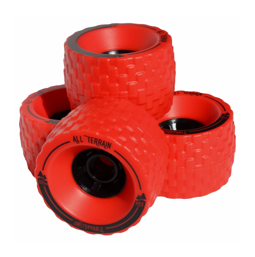 Image of MBS All-Terrain Skateboard Wheels - Red