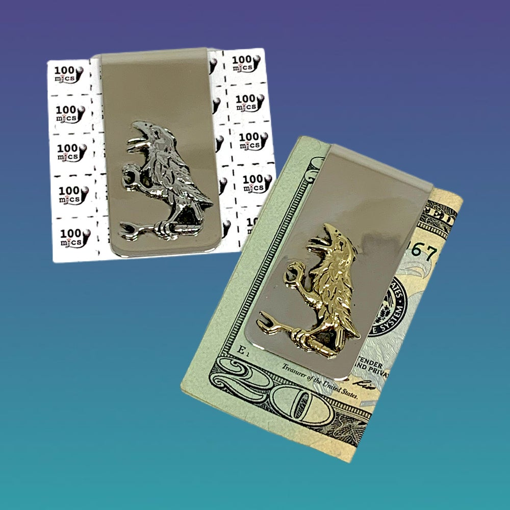 Image of The Crow Money Clip in Nickle Silver and Yellow Brass