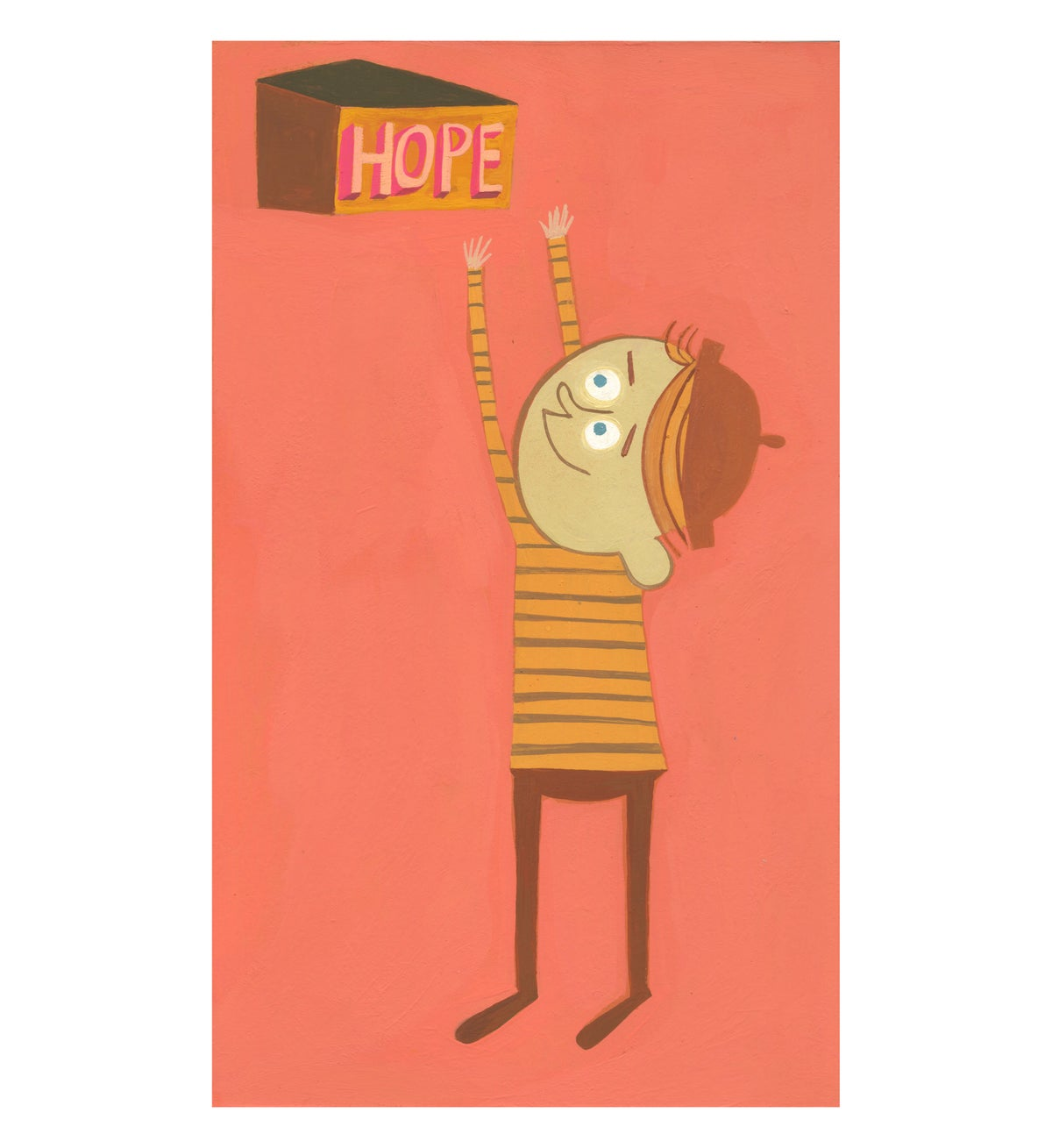 Image of Hope. Original gouache painting.