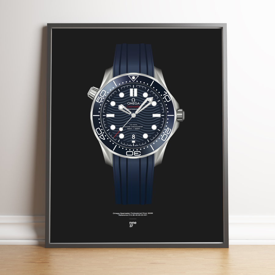 Image of Omega Seamaster 300m blue dial