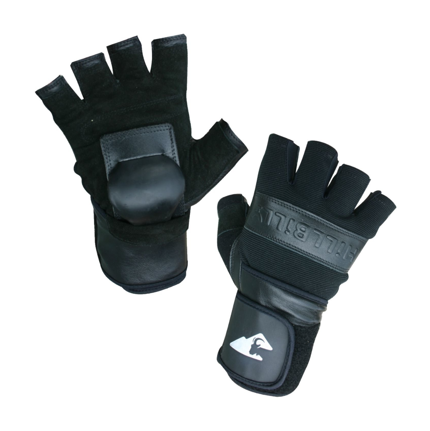 Image of HILLBILLY WRIST GUARD GLOVES - BLACK - HALF FINGER
