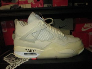 "Image of Air Jordan IV (4) Retro x OFF--WHITE ""Sail"" WMNS"