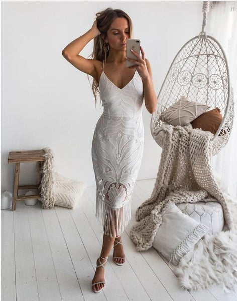 Image of Khaleesi Dress. White.