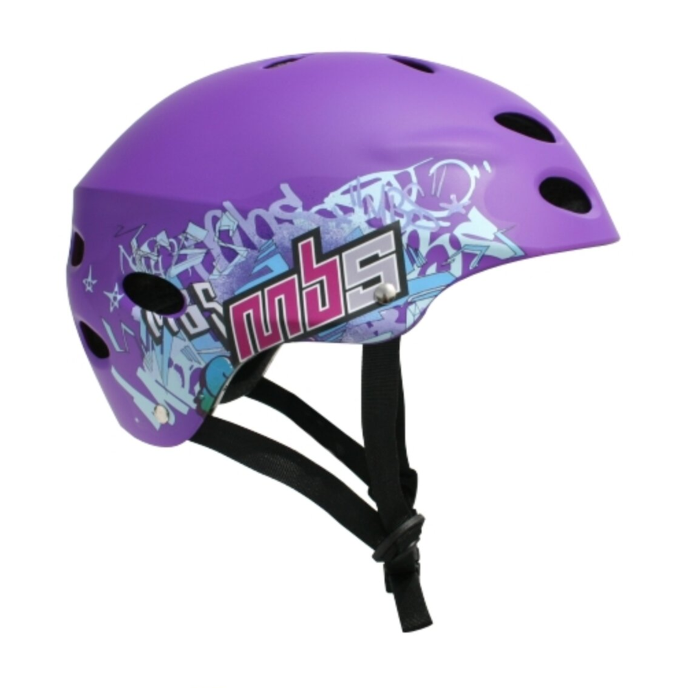 Image of MBS Helmet -Logos - Purple
