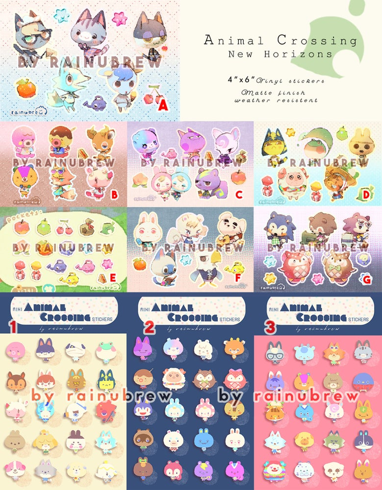 Image of Animal Crossing New Horizon | 6x4 inch sticker sheets