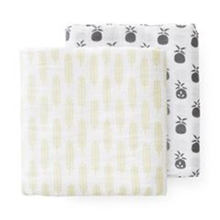 Image of Pineapple & Wheat XL Muslin Swaddles
