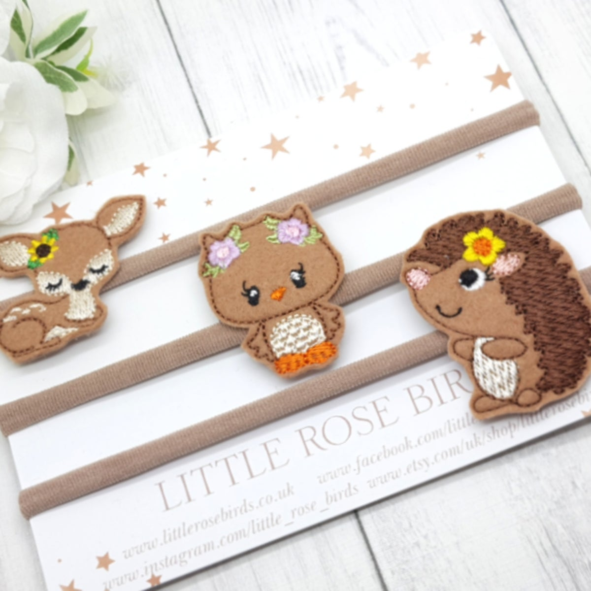 Image of Woodland Animal Set - Choice of Clip or Headband