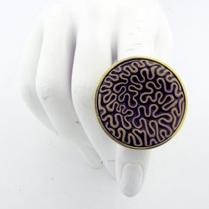 Image of Brain Coral Oversized Cocktail Ring