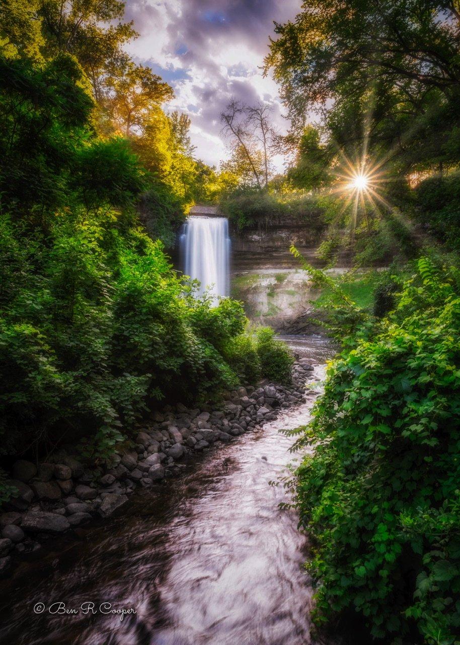 Golden Hour at Minnehaha Falls