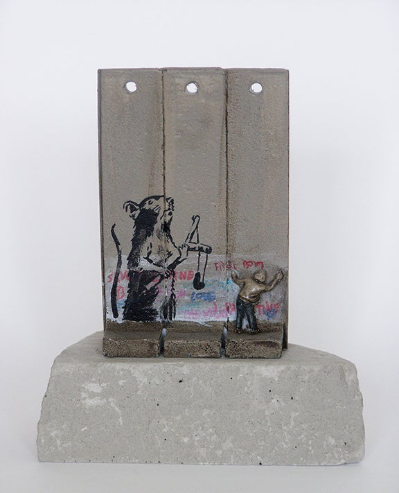 Image of Banksy Wall Section