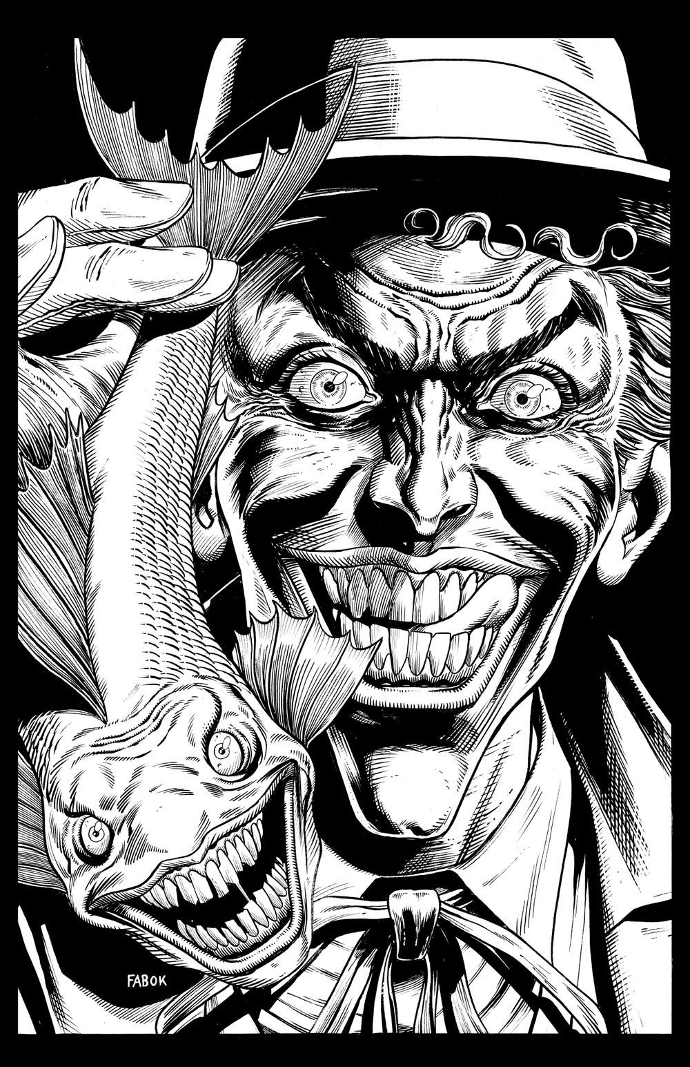 Image of Batman: Three Jokers Book 1 Premium Cover: Joker with Laughing Fish