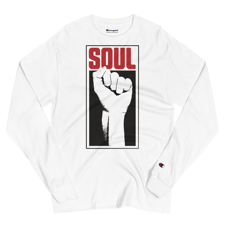 Image of Soul Power Fist Champion Long Sleeve Tee (White)