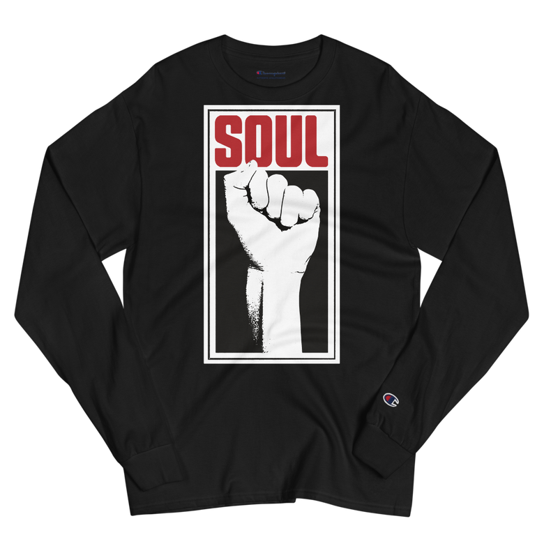 Image of Soul Power Fist Champion Long Sleeve Tee (Black)
