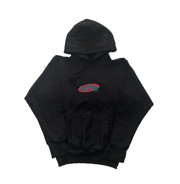 Image of Logo Reverse Weave Hooded Sweat