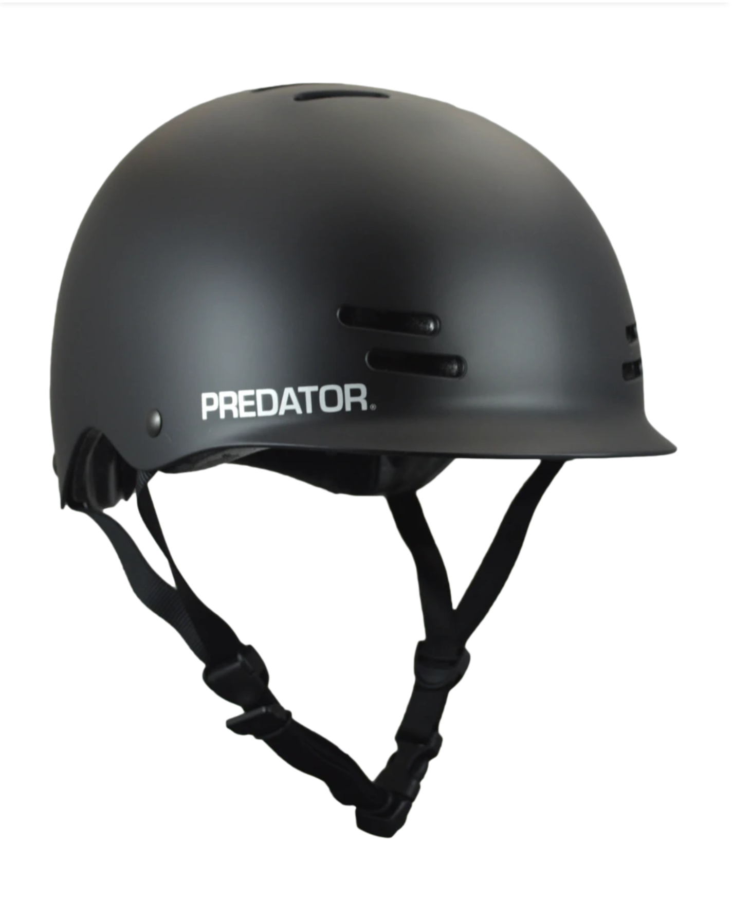 Image of Predator Helmets - FR7 Certified - Black + Free Sticker Pack