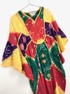 Vintage Judith Ann Tie Dyed Colorful Cotton Gauze Caftan Dress