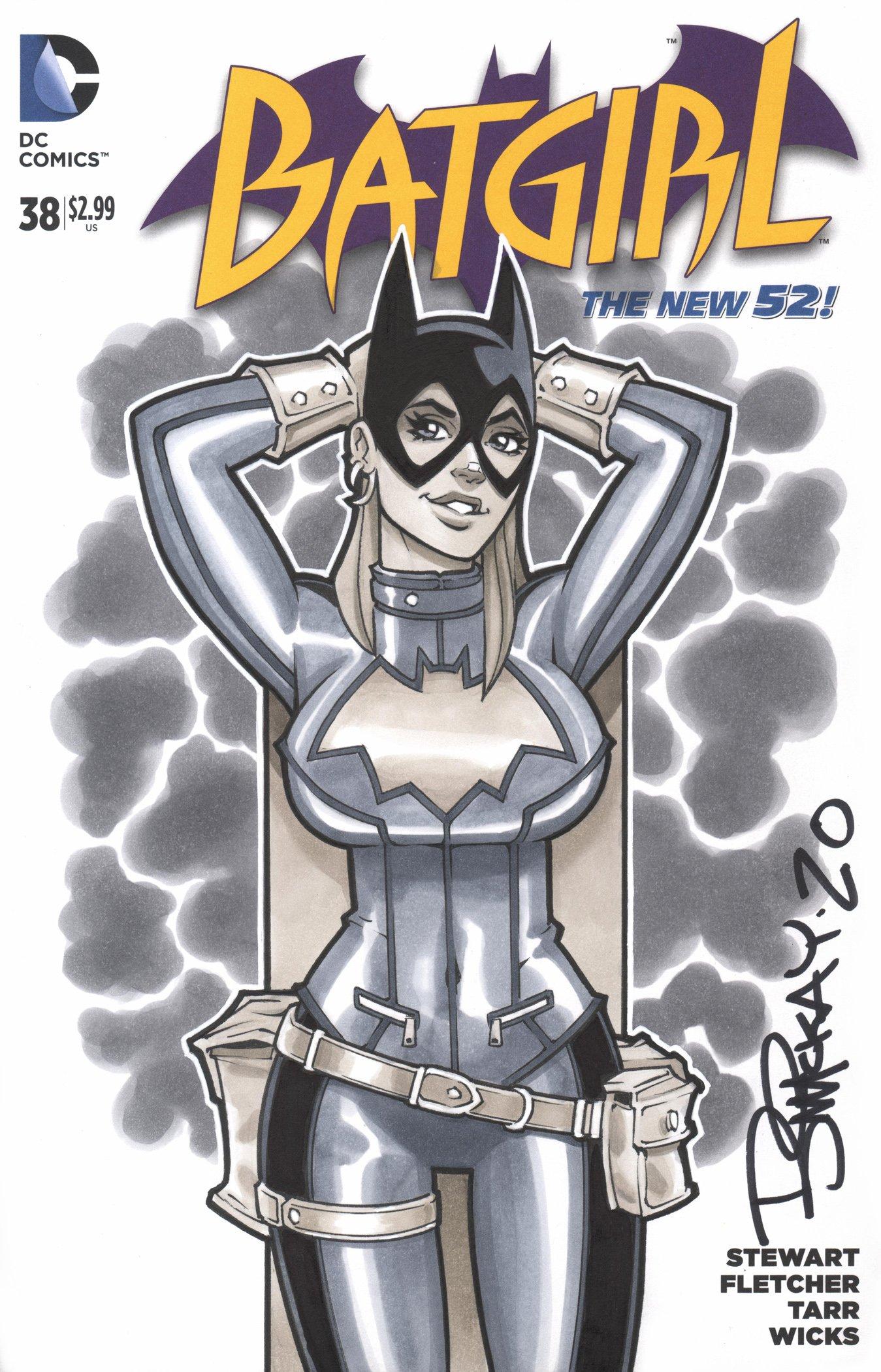 Image of Batgirl Copic Marker Sketch 1/1