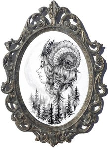 """Image of Framed """"Colossal Forest Princess"""" Original Painting"""