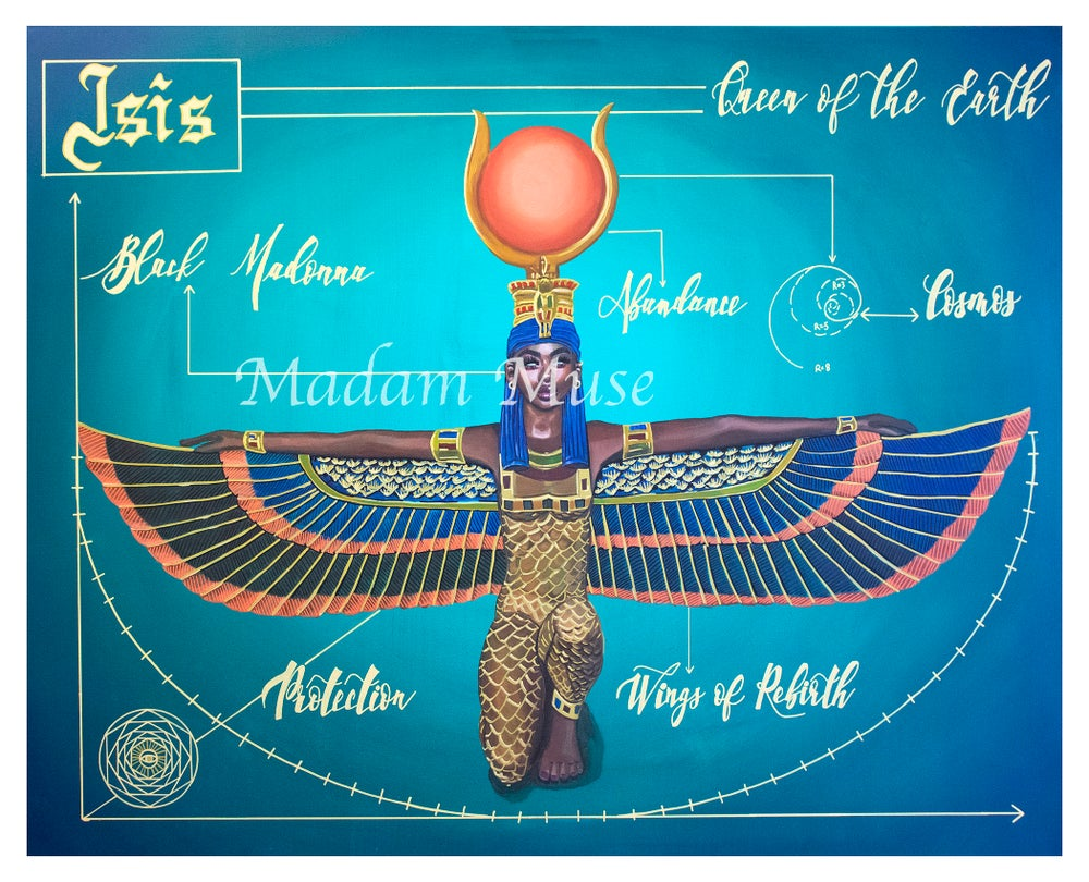"Image of ""Goddess Isis"" Blueprint Series Limited Edition Prints"