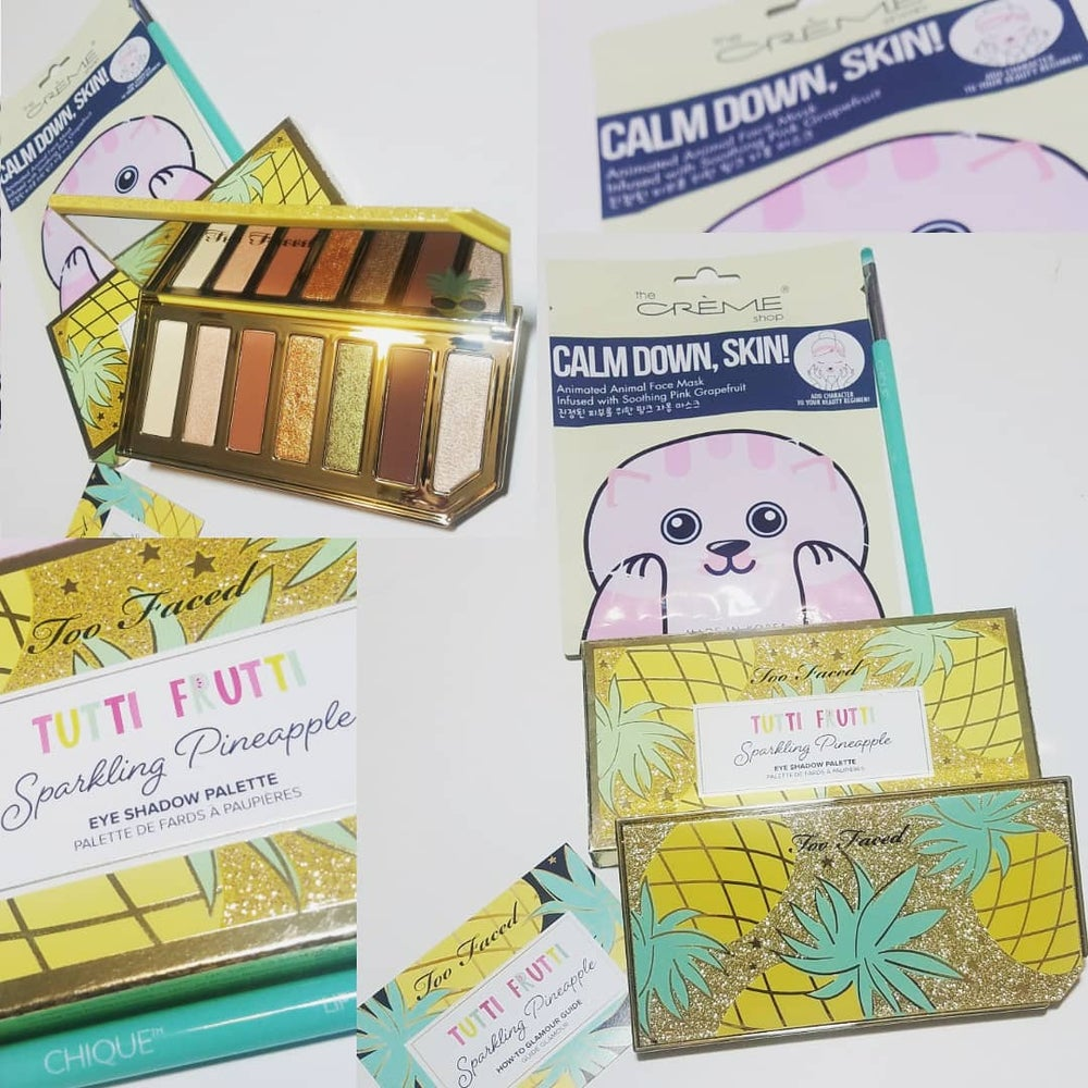 Too Faced Sparkling Pineapple Eyeshadow Beauty Bundle