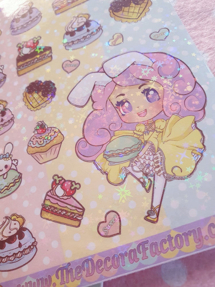 Image of Kawaii Vinyl Holographic Stickers