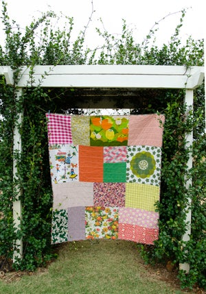 Image of Big Patch Quilt Pattern (HARD COPY BOOKLET) - Includes instructions for Baby and Throw size