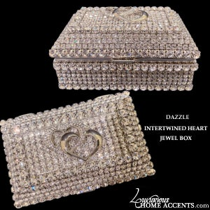 Image of Dazzle Swarovski Crystal Intertwined Heart Jewel Box