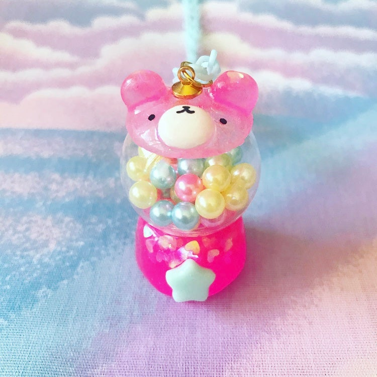 Image of Gumball Machine Bear: Hot Pink + Mint Star