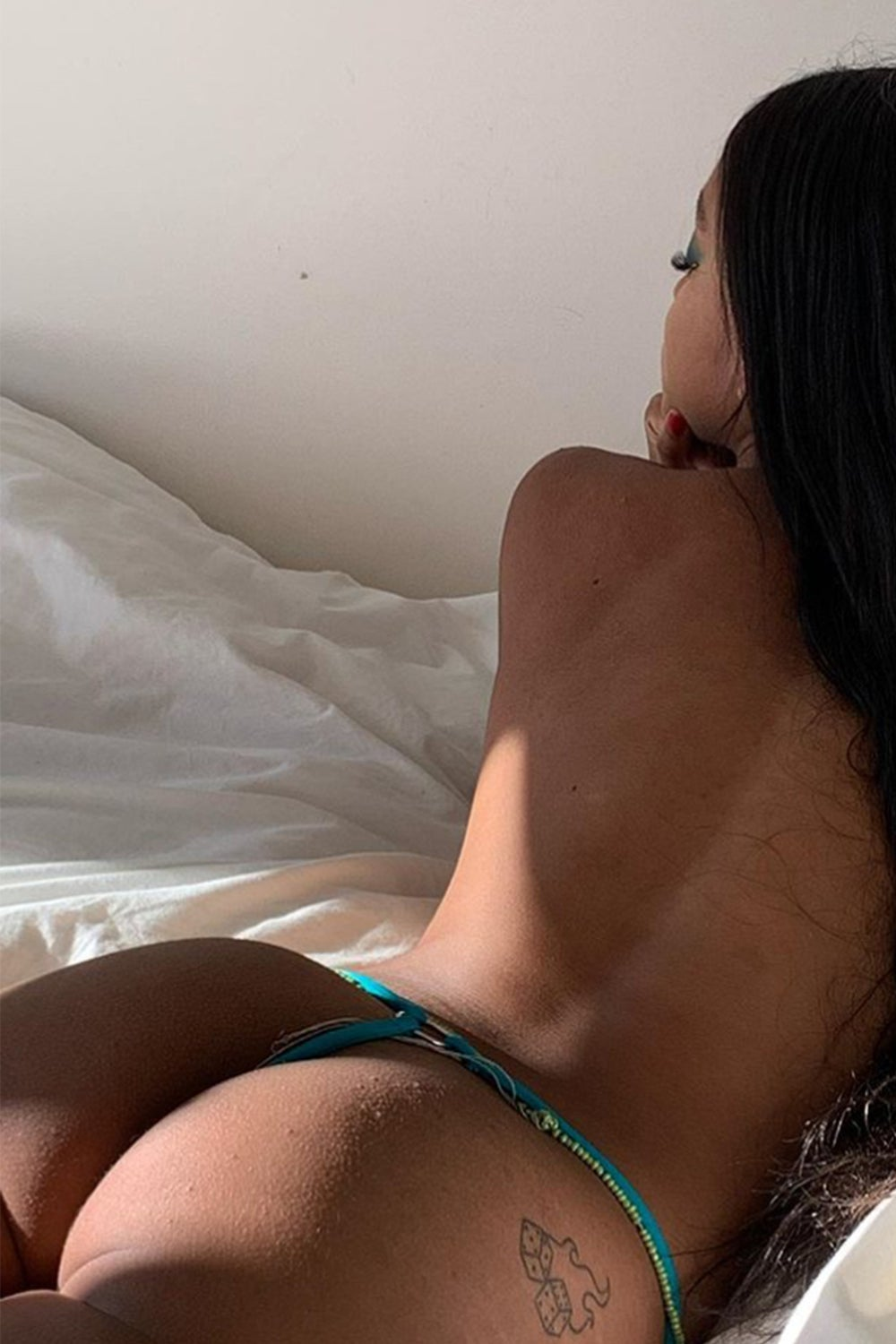Image of Devil T-Thong - Turquoise