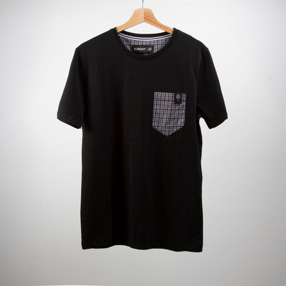 Image of Sunday T-Shirt Tartan Pocket