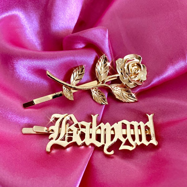 "Image of ""Babygirl"" Hair Clip Bling Set"