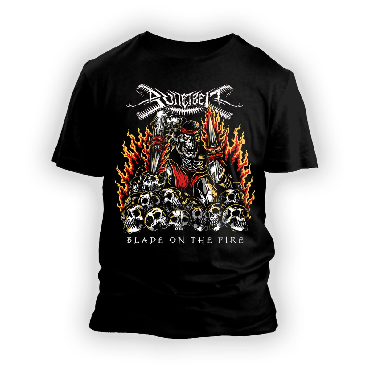"Image of Bulletbelt ""Blade on the Fire"" T-Shirt"
