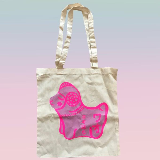 Image of PINK SHEEP - SCREEN PRINTED TOTE BAGS